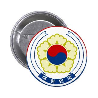 Emblema de la Corea del Sur Chapa Redonda De 5 Cm