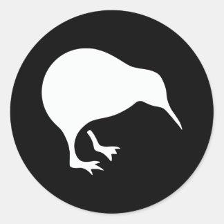 Emblema de Nueva Zelanda del kiwi Pegatina Redonda
