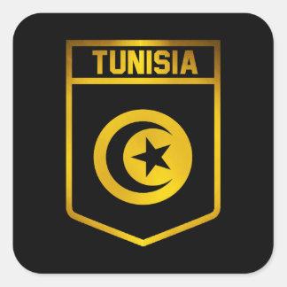 Emblema de Túnez Pegatina Cuadrada