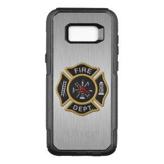 Emblema del cuerpo de bomberos de lujo funda otterbox commuter para samsung galaxy s8+