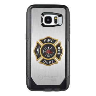 Emblema del cuerpo de bomberos de lujo funda OtterBox para samsung galaxy s7 edge