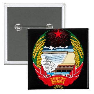 emblema del norte de Corea Chapa Cuadrada