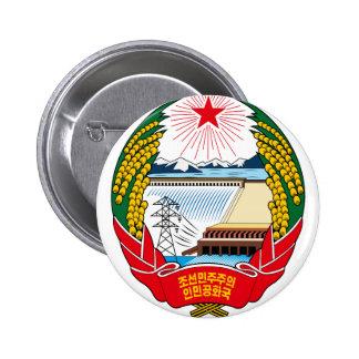 emblema del norte de Corea Chapa Redonda De 5 Cm