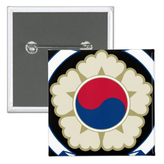 emblema del sur de Corea Chapa Cuadrada