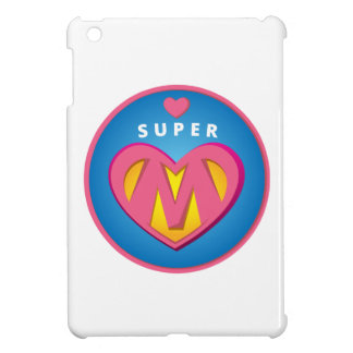 Emblema divertido de la mamá del Superwoman del
