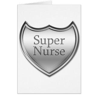 Emblema estupendo de la enfermera tarjeta de felicitación
