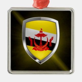 Emblema metálico de Brunei Adorno De Cerámica