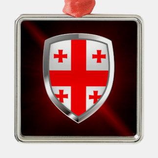 Emblema metálico de Georgia Adorno De Cerámica