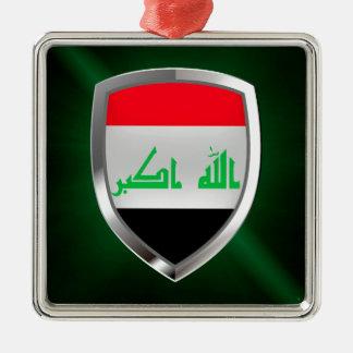 Emblema metálico de Iraq Adorno Navideño Cuadrado De Metal