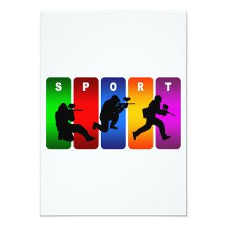Emblema multicolor de Paintball Invitación 12,7 X 17,8 Cm