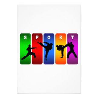 Emblema multicolor del karate anuncio