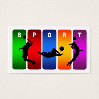 Emblema multicolor del voleibol tarjeta de negocios