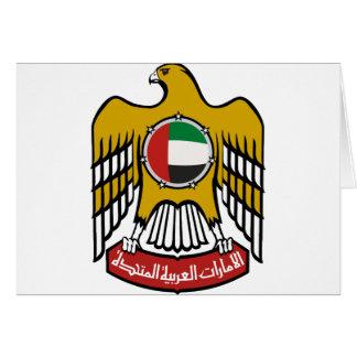 Emblema nacional de United Arab Emirates Tarjeta