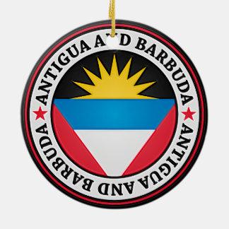 Emblema redondo de Antigua y de Barbuda Adorno De Cerámica