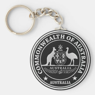 Emblema redondo de Australia Llavero
