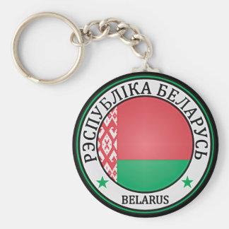 Emblema redondo de Bielorrusia Llavero