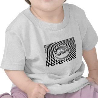 Emblema retro de los E.E.U.U. Camisetas