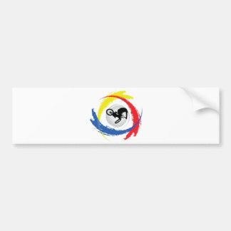 Emblema tricolor de BMX Pegatina Para Coche