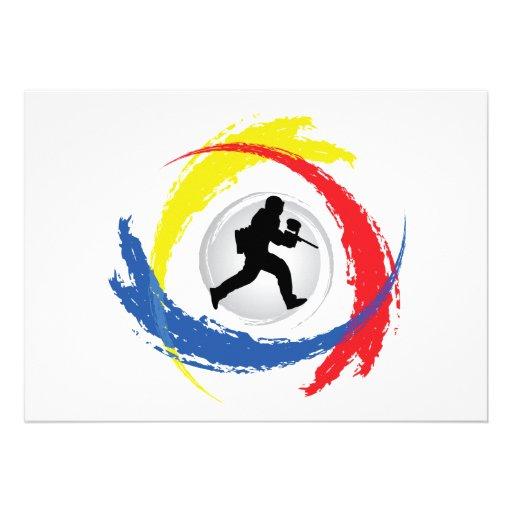 Emblema tricolor de Paintball Comunicado Personalizado