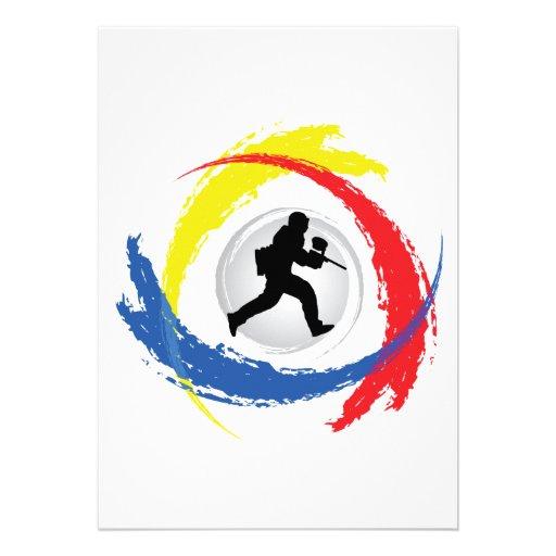 Emblema tricolor de Paintball Anuncios