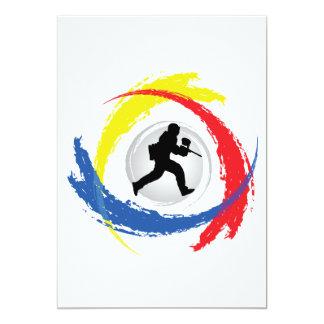 Emblema tricolor de Paintball Invitación 12,7 X 17,8 Cm