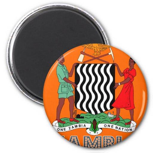 Emblema zambiano imanes de nevera