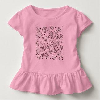 Embroma al cuerpo del bebé con los círculos camiseta de bebé