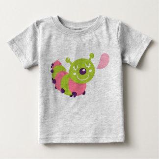 EMBROMA gris de la camiseta con la pequeña abeja