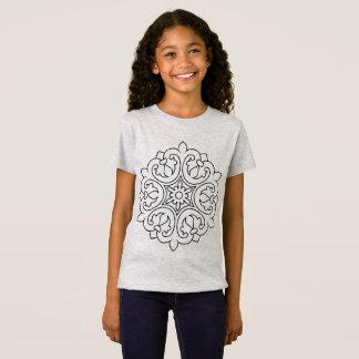 EMBROMA gris de la camiseta de los diseñadores con