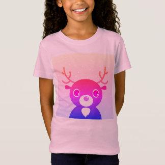 Embroma la camiseta de los chicas con el reno