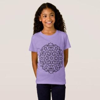 Embroma la camiseta de los diseñadores con lavanda