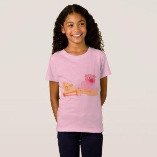 Embroma la camiseta del vintage con el cerdo