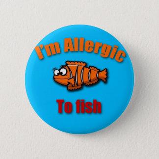 Embroma pescados alertas de la alergia chapa redonda de 5 cm