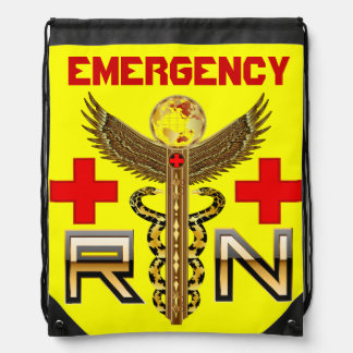 Emergencia de la enfermera mochilas