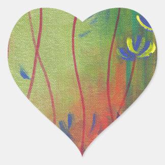 emerja pegatina en forma de corazón
