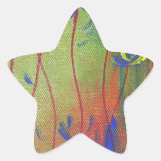 emerja pegatina en forma de estrella