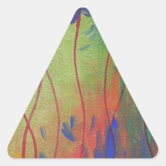 emerja pegatina triangular