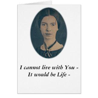 """Emily Dickinson divertida """"no puedo vivir con Tarjeta De Felicitación"""
