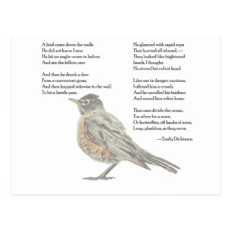 """Emily Dickinson """"en postal del poema del jardín"""""""
