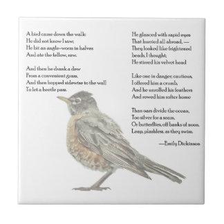 """Emily Dickinson """"en teja del poema del jardín"""""""
