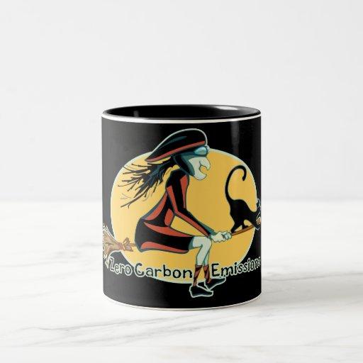 Emisiones de carbono cero taza de café