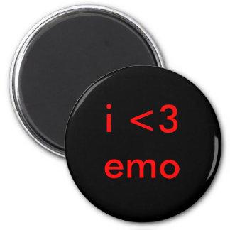 emo i <3 imán redondo 5 cm