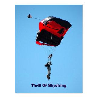 emoción de la postal de Skydiving
