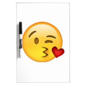 Emoji - beso que lanza pizarra blanca