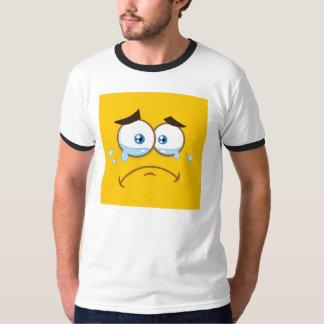 Emoji cuadrado triste camiseta