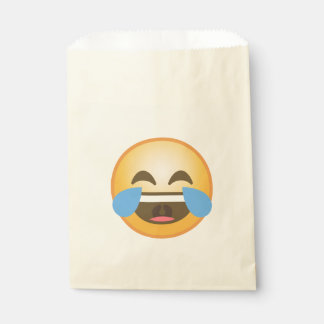 Emoji de risa gritador bolsa de papel