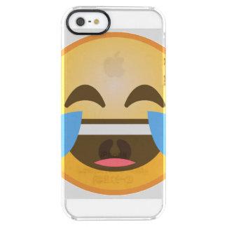 Emoji de risa gritador funda transparente para iPhone SE/5/5s