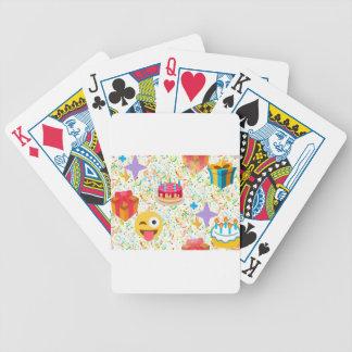 emoji del feliz cumpleaños barajas de cartas