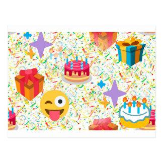 emoji del feliz cumpleaños postal
