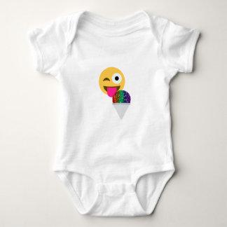 emoji del guiño del brillo body para bebé